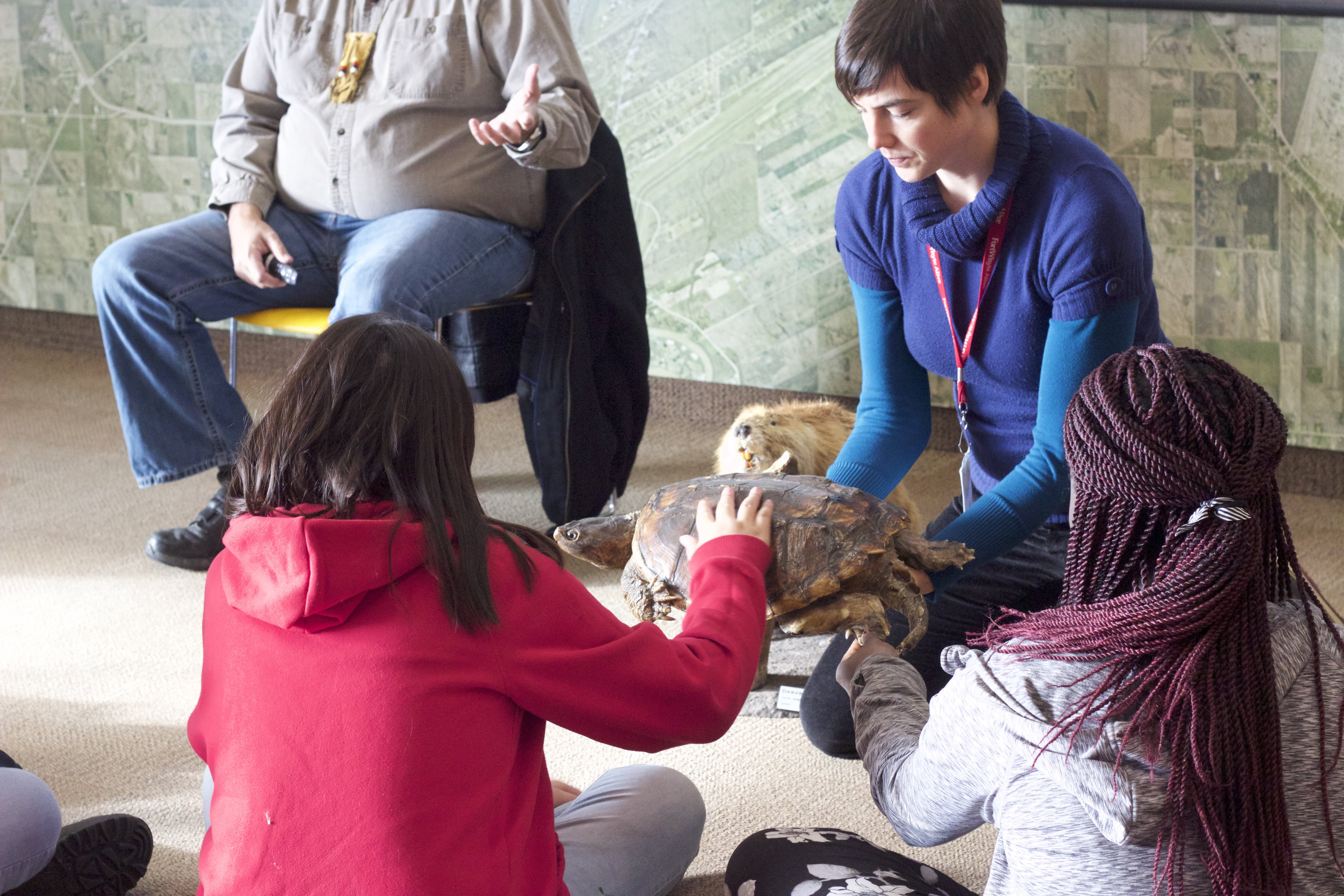Grade 5/6 students from Wellington school learn about the Seven Teachings and the animals they represent