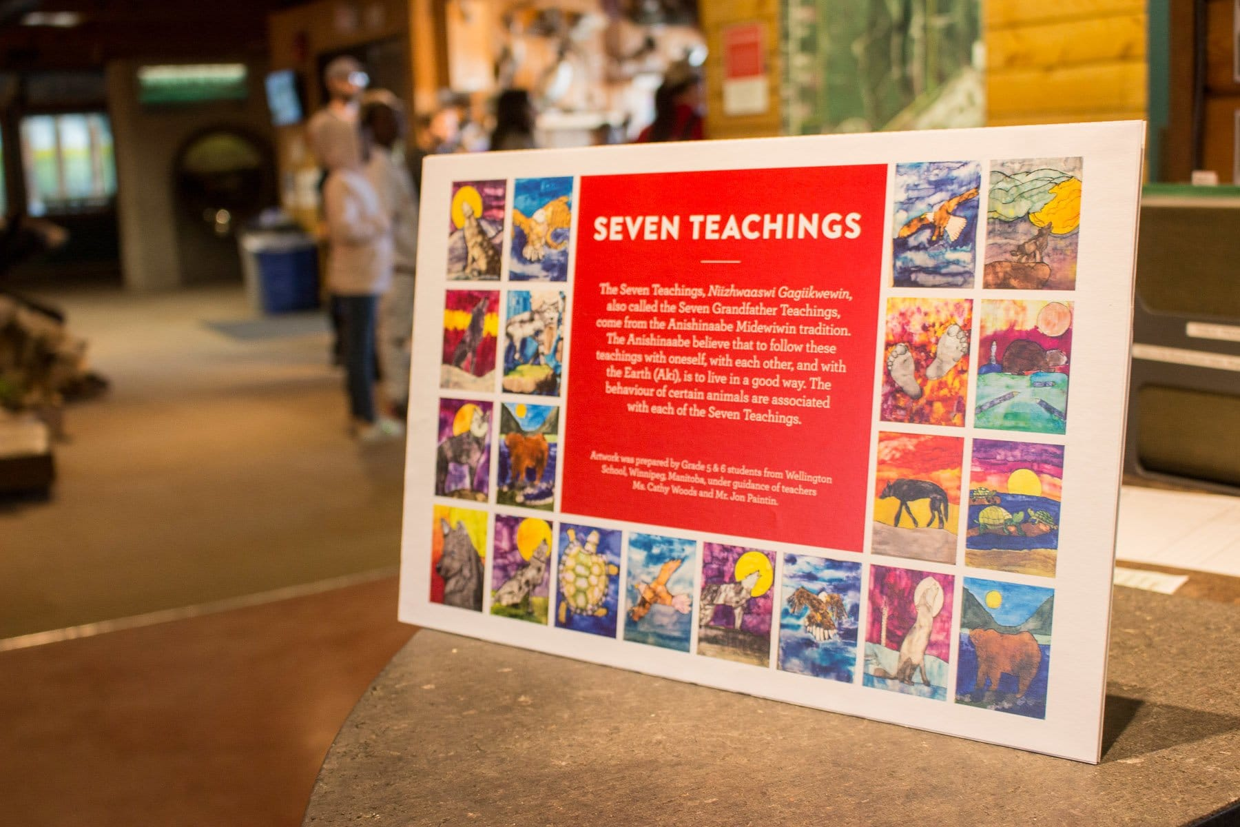 Student artwork is displayed in the Touch Museum