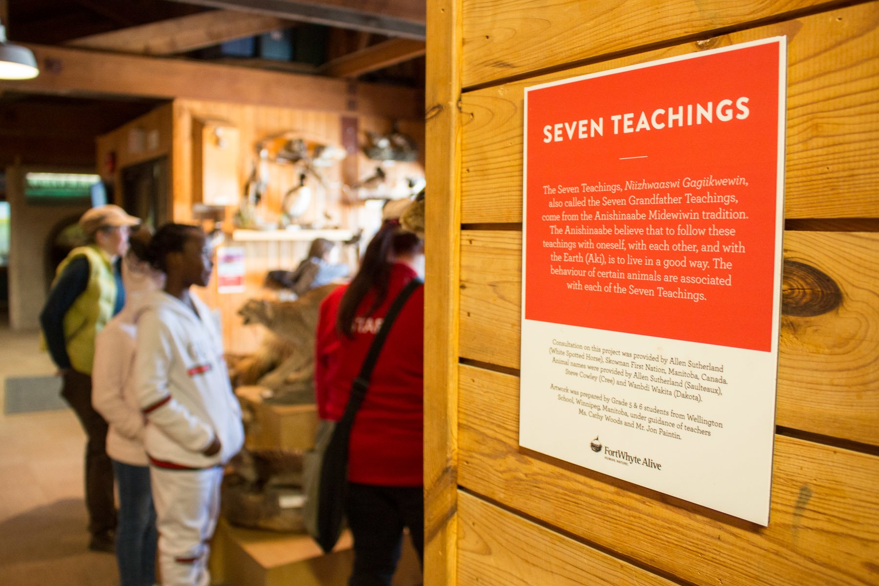 Seven Teachings signage in the Touch Museum