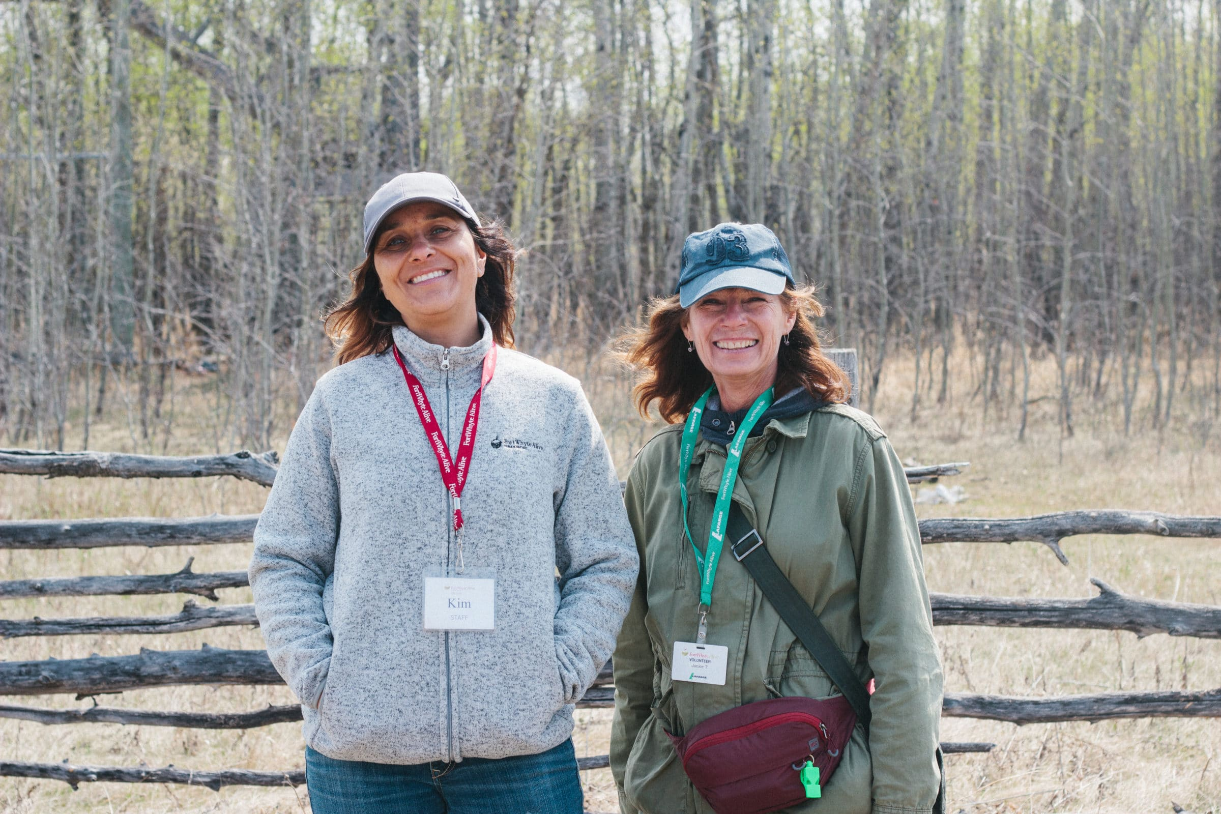 FortWhyte employee and volunteer smiling outdoors