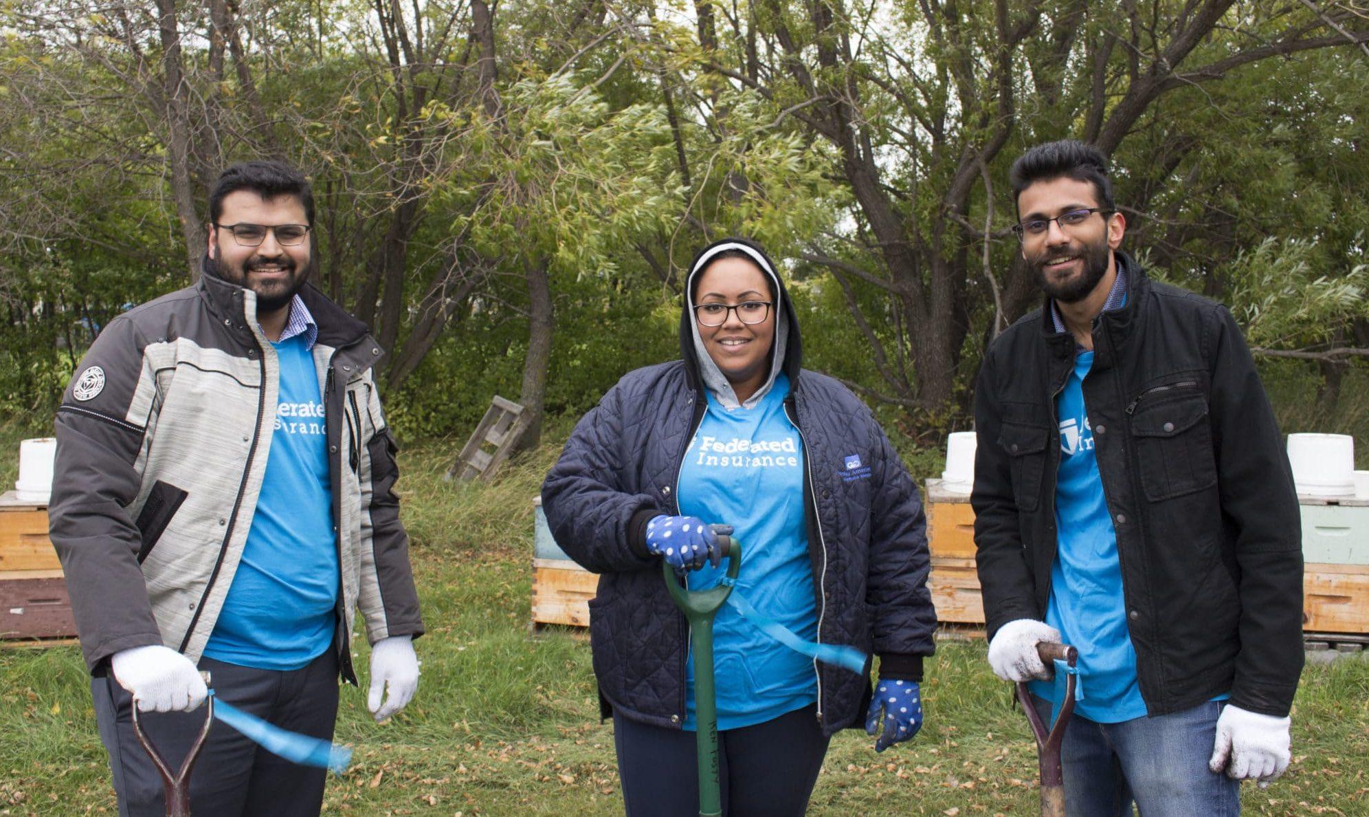 Group of corporate volunteers