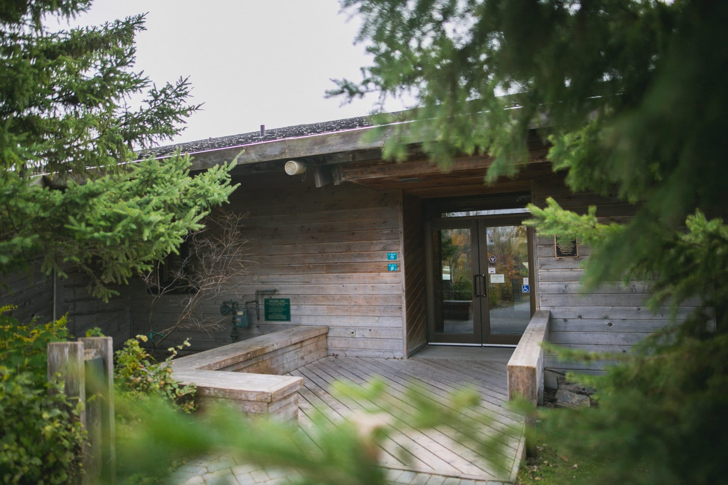 Back entrance of Interpretive Centre