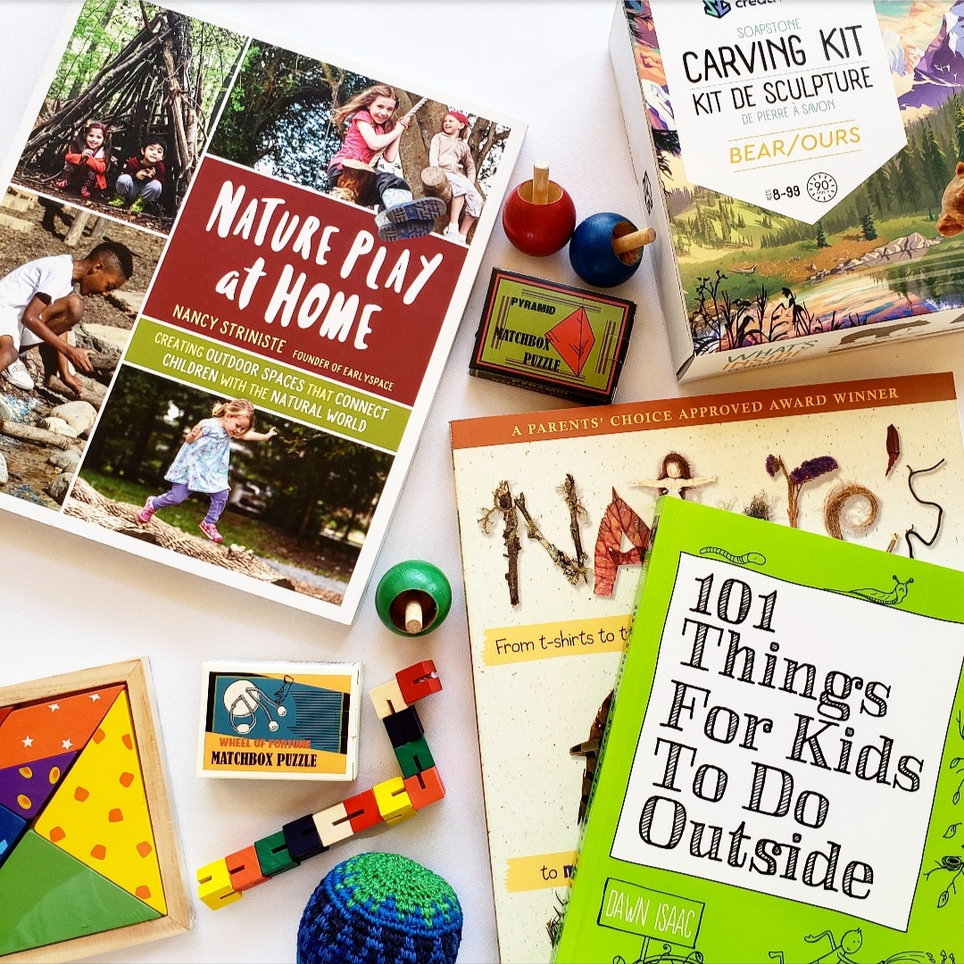 Assortment of books and toys for children