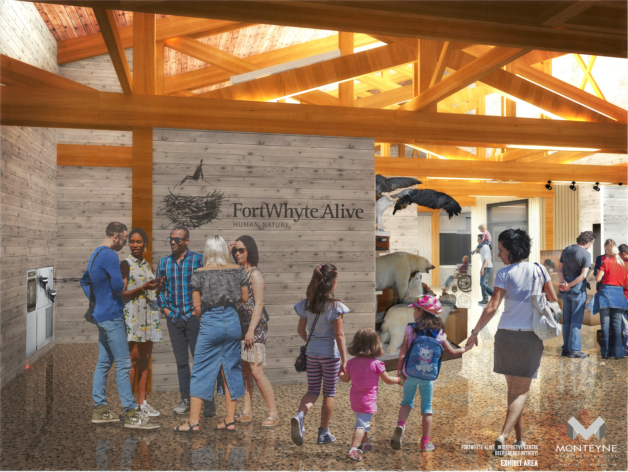 Interior rendering of Interpretive Centre