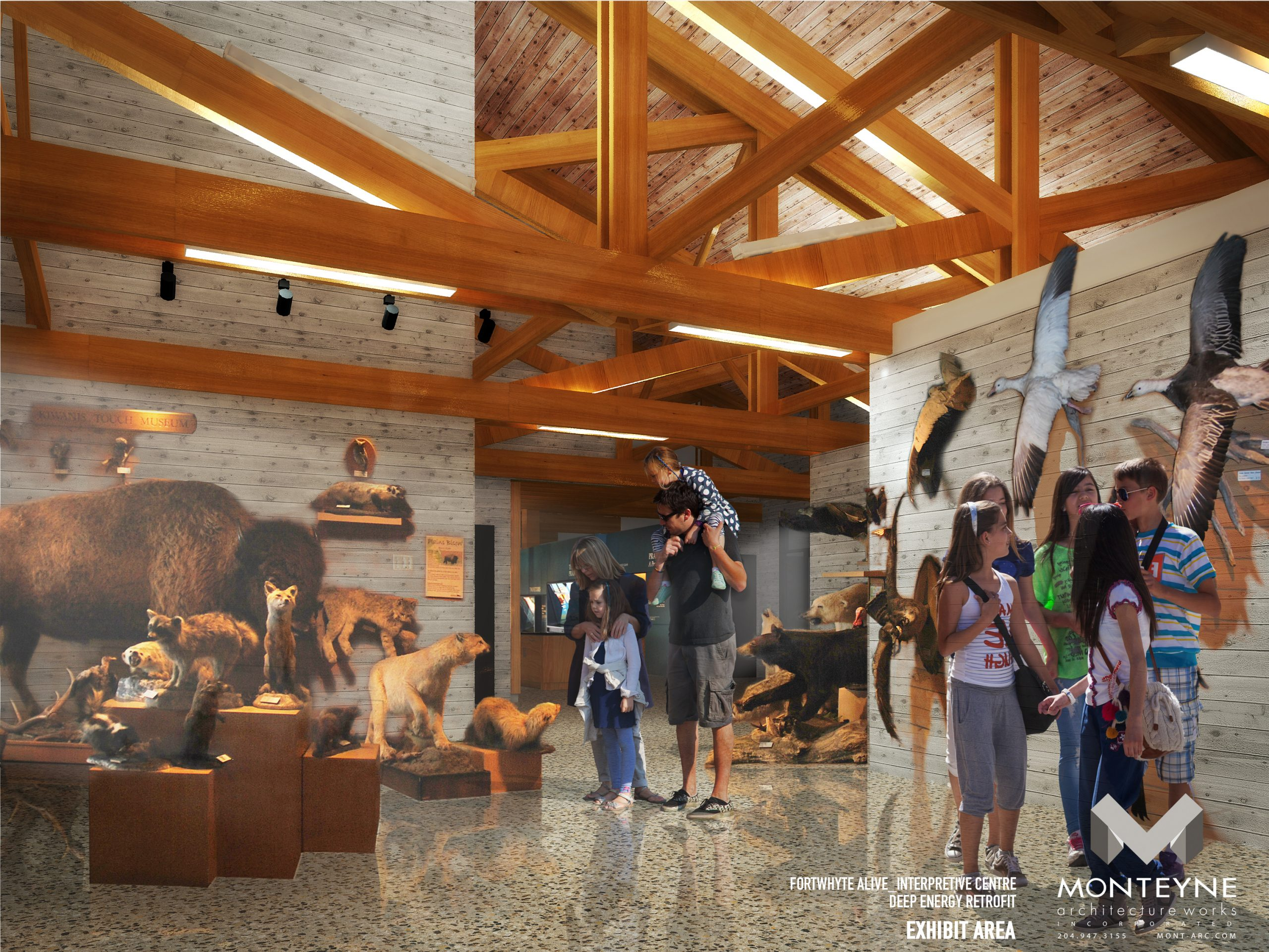 Rendering of the interior of Interpretive Centre
